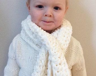 Crochet scarf kids age 2-5