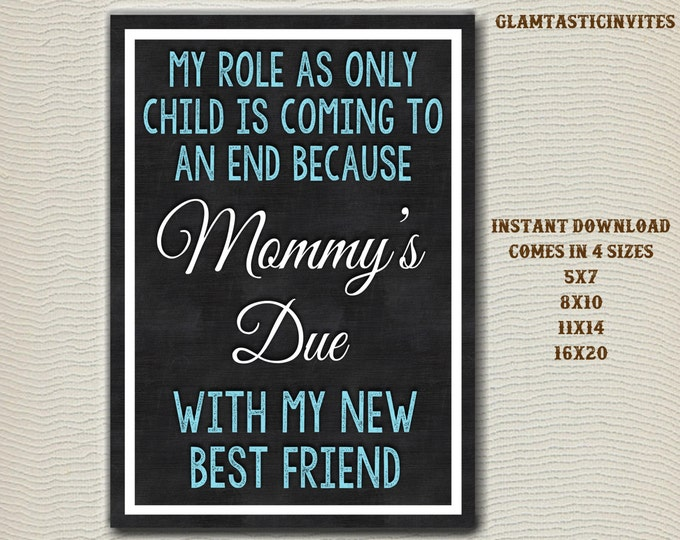 Pregnancy Reveal, Only Child Expiring, Pregnancy Announcement, Big Brother, My New Best Friend, Photo Prop, Chalkboard, Only Child, Due