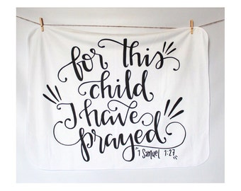 Bible Verse Blanket Swaddle Receiving Blanket Baby Shower Gift Baptism Gift