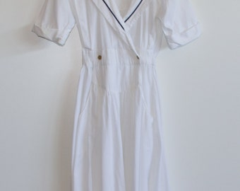 80's Sailor Inspired Day Dress