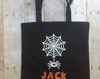 Halloween bag- trick or treat bag- personalized halloween bag- halloween- halloween tote- trick or treat tote
