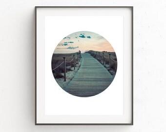 Nature Photography, Modern Photography Wall Art, Modern Photography Print, Photography Circle, Beach Print Art, Abstract Beach Print, Prints