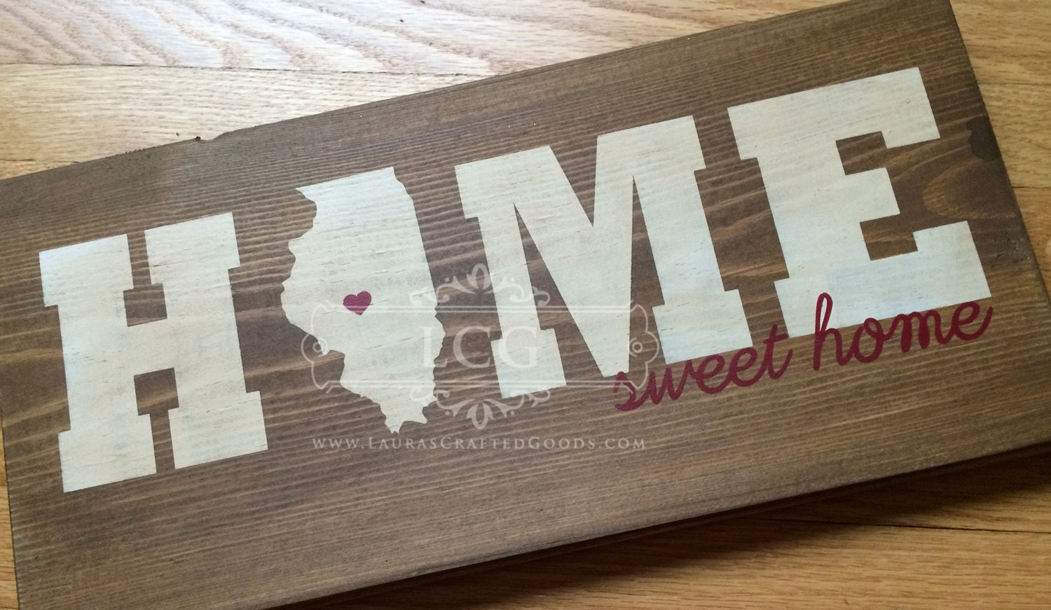 Home Sweet Home State Home Sweet Home Sign State Outline