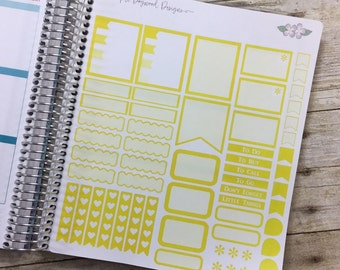 Yellow Vertical Life Planner Light Shading Theme - Full Page ~ 3262F ~
