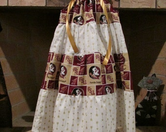 Florida State Seminoles/FSU/Seminoles Tiered Pillowcase Style Dress/Size 3T/Ready to Ship