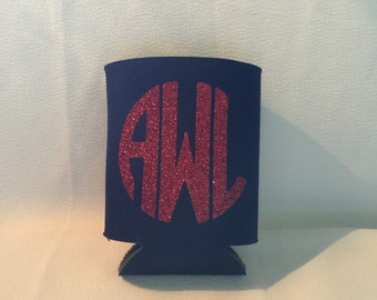 monogrammed can cooler