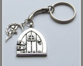 Good Fairy Door Keyring , Key Charm, Fantasy Keyring , Hobbit Door Keyring, Bag  Charms