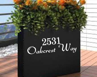 Address Vinyl Decal for Mailbox,Planter, Post, Etc. Comes in a variety of Sizes and Colors.