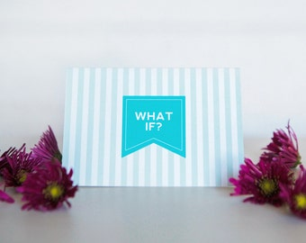 What if? Card | Encouragement | Support | Marriage | Love