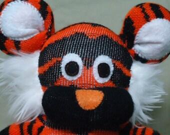 Custom Handmade Sock Tiger