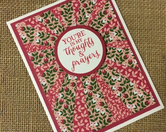 Handmade Cards - You're in my thoughts & prayers