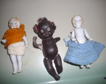 3 Antique Dolls; 2 made in Germany