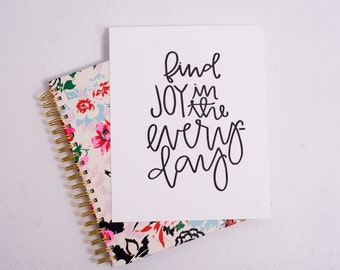Letterpress Print // Find Joy in the Everyday