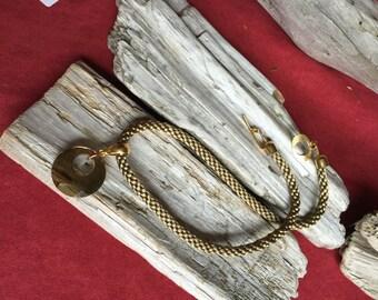 Beautiful Swarvoski Pendant on Kumihimo braid.