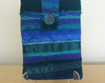 Textile iPad and Kindle Case in Turquoise
