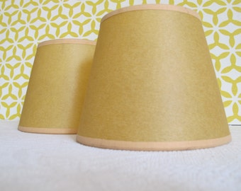 Very nice lampshade yellow & Gold  1950 French decoration