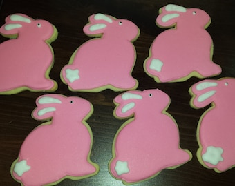 Bunny cookie, Rabbit cookie, decorated cookie, baby shower cookie, animal cookie, perth cookies,
