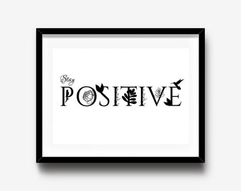 Positive Quotes, Inspirational art poster, Typography Wall Art, Home decor wall art, Motivational quotes