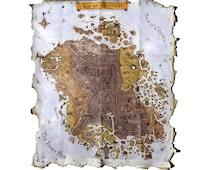 TES: Morrowind Collector's Map - Wall Art - Decor - Poster - Fantasy - Fan Art