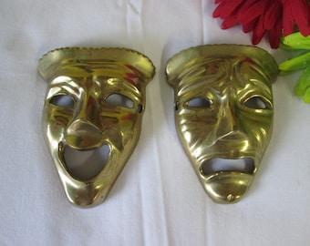 Vintage masks Jean laughing /Jean crying /Vintage Jean masks laughing / crying that Jean