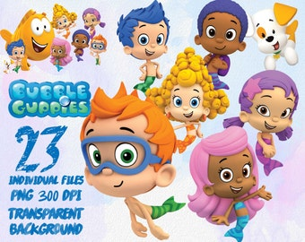 Bubble Guppies ClipArt-PNG -transparent-300dpi-party-printable