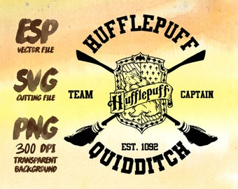 Hufflepuff Quidditch Clipart , SVG Cutting , ESP Vectors files , T shirt , iron on , sticker ,Personal Use