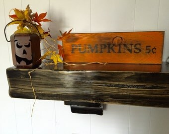 Pumpkins 5 cents sign