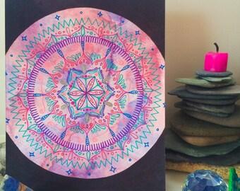 A5 Original Artwork 'Magical Mandala' by Vesica Designs
