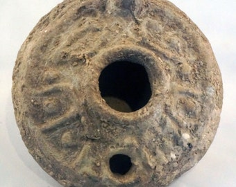 Ancient Oil Lamp,  Byzantine, 5th-7th century AD