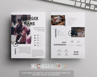 Blog sponsorship proposal letter template ad rate sheet for Digital press kit template free