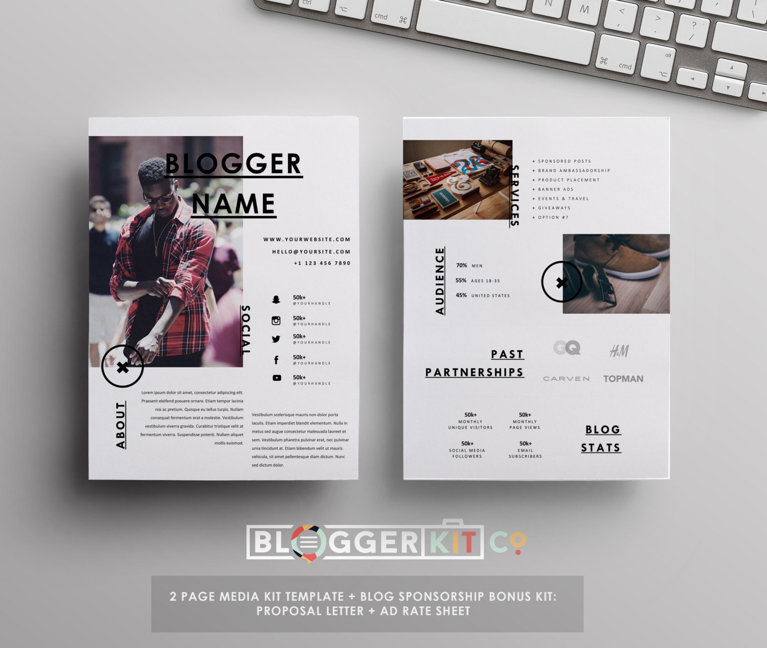 4 pg media kit template press kit template proposal letter for Press packet template