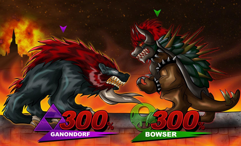 Giga Bowser vs Dark Beast Ganon FREE SHIPPING