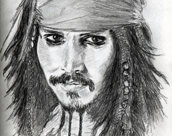 Portrait of Johnny Depp alias Jack Sparrow