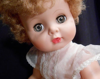 "Vintage Life Size 1950's Doll ""Baby Toddler""  20 inches  tall **STUNNING**"