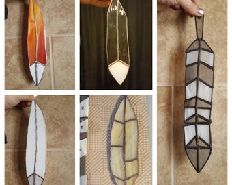 Custom Stained Glass Feather