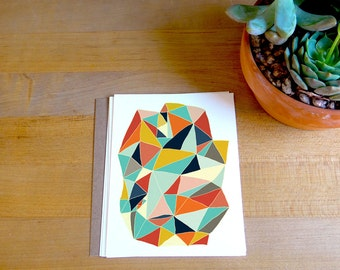 Fine Art Geometric Card