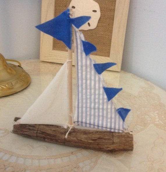 Https Www Etsy Com Listing 291085227 Driftwood Sailboat Nautical Decor