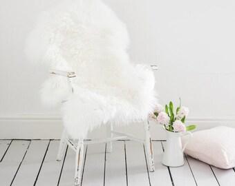 Sheepskin  Rug  white -ivory XXL soft ,thick wool