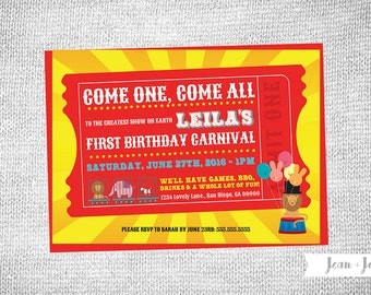 Carnival • Big Top Birthday Party Invitation