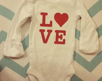 LOVE Baby Onesie- Long Sleeved