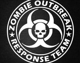 Zombie Outbreak Vinyl car decal