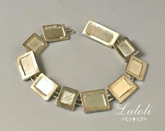 Sterling Silver Bracelet handmade design, Clean sterling Silver, goldsmiths Unique bracelet, art jewelry art, Handcrafted cuff bracelets