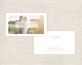 Photography Business Cards Photoshop Template  - Wedding Photographer Templates, Photo Marketing, Photography Branding - INSTANT DOWNLOAD