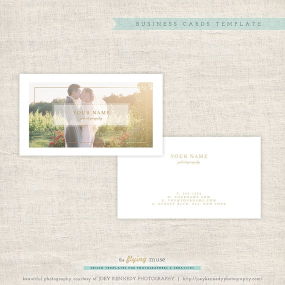 Photography business cards photoshop template wedding for Photography business card template photoshop