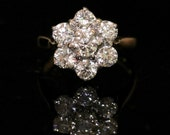 Antique Diamond Daisy Ring 2ct Of Beatuiful Diamonds