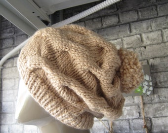 Slouchy Hat Knitted / Beanie Winter Hat, Women Hats, Knitted Oversized Slouch, Christmas gift