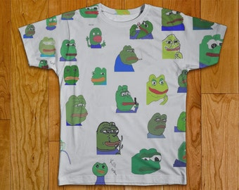 Pepe Meme Reddit Tshirt Two Sided Clothing