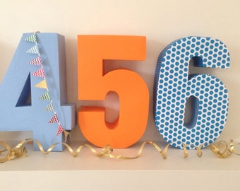 Birthday Numbers Complete Set of downloadable DIY Pinanta templates 3D printable birthday numbers 0 to 9