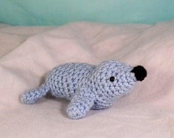 Amigurumi stuffed seal