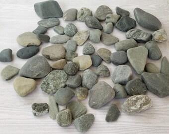 Small Rocks Smooth Rocks Beach Pebble Art Craft Stone Coastal Wedding Sea Stones Flat Rock Craft Pebbles  - 60 smooth beach rocks